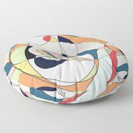 Modern Colorful Abstract Line Art Design  Floor Pillow