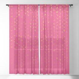 virgo zodiac sign pattern py Sheer Curtain