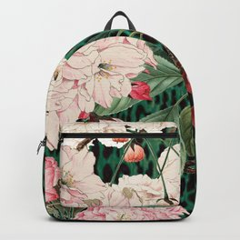 Cherry Leopard Panel Backpack