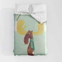 This moose is ready for winter Comforters