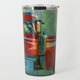 The Trucker - Red Lorry Artwork Travel Mug
