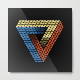 Penrose Puzzle Metal Print