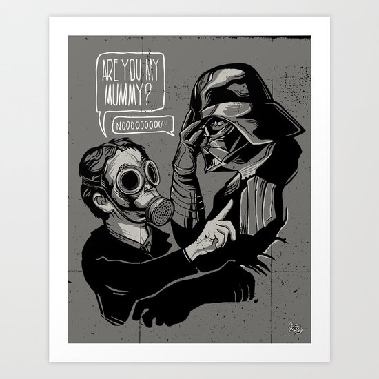Are you my Mummy? Art Print