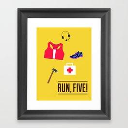 ZR: Run, Five! Framed Art Print