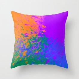 Iridescent Fury Throw Pillow