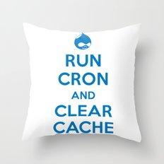 Run Cron and Clear Cache Throw Pillow