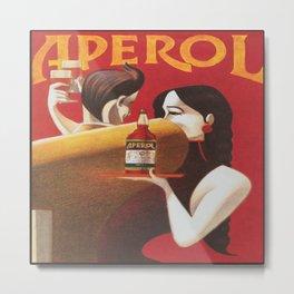 Aperol Vintage Beverage Advertisement Poster Metal Print