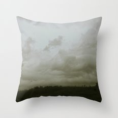 Dawn in the countryside Throw Pillow
