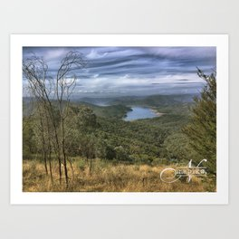 Eildon Lake Mountain View Art Print