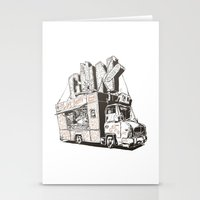 truck Stationery Cards featuring Shopping Truck by Mitt Roshin
