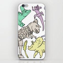 dinosaur friends iPhone Skin