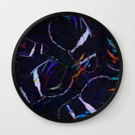 Abstract Butterfly Pattern #4 Wall Clock