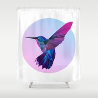 hummingbird Shower Curtains featuring Hummingbird by jenkydesign