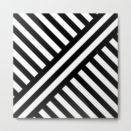 two way stripey diagonal Metal Print