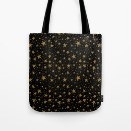 Starry Night Gold Twinkles Tote Bag