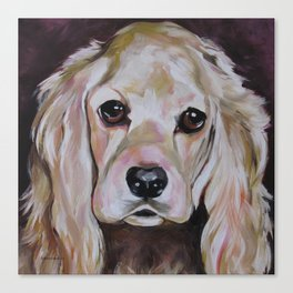 Cocker Spaniel Dog Pet Portrait Canvas Print