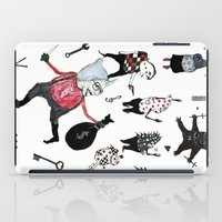 allyson johnson iPad Cases featuring Minis Johnson by Franck Chartron