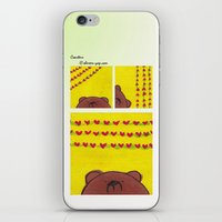 coasters iPhone & iPod Skins featuring Grumpy Bear - Coasters by Shereen Yap