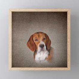 Drawing Dog Beagle 3 Framed Mini Art Print