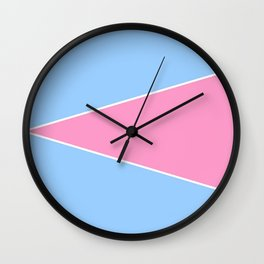 just two colors 7: blue and pink Wall Clock