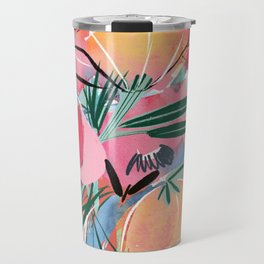 Red, Pink, and Yellow Floral Travel Mug