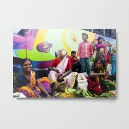 Mumbai Crowds - Dadar Station and Market - 12 Metal Print