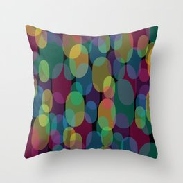 Oval Abstract Pattern Throw Pillow