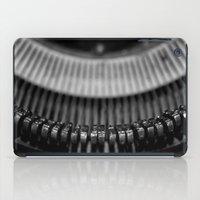 typewriter iPad Cases featuring Typewriter by Anne Seltmann