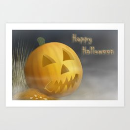 Happy Halloween Illustration Art Print