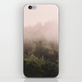 Pink Foggy Forest Landscape Photography Nature Earth iPhone Skin