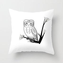 Friendly Owl Throw Pillow