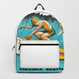 Virginia Beach Retro Vintage Surfer Backpack