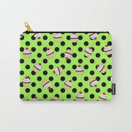 Sweet Cherry Cupcake Picks Dots Carry-All Pouch