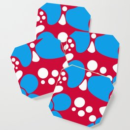 Abstract red-blue pattern Coaster