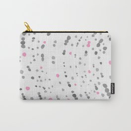 Dot Painting - Pink - Gray Carry-All Pouch