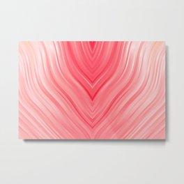 stripes wave pattern 3 dri Metal Print