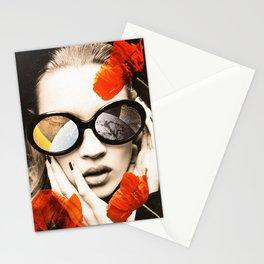 poppy pop (kate Moss) Stationery Cards