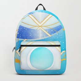 Icy Golden Winter Swirl :: Floating Geometry Backpack