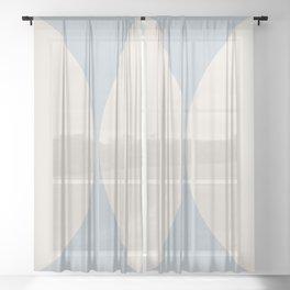 Curvature Minimalism - Pastel Blue Sheer Curtain