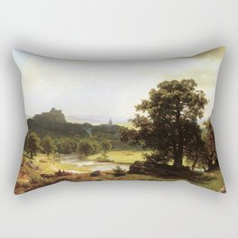 Day S Beginning By Albert Bierstadt | Reproduction Painting Rectangular Pillow