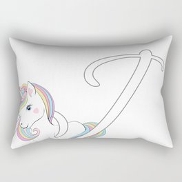 Unicorn,letters,a,b,c,personalised gift ideas  Rectangular Pillow