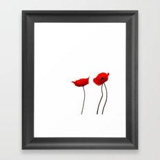 Simply poppies Framed Art Print