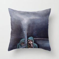 never go home (homesick) Throw Pillow