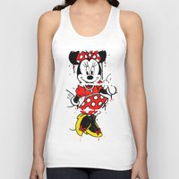 minnie Tank Tops featuring Minnie Mashed by Dave Seedhouse.com
