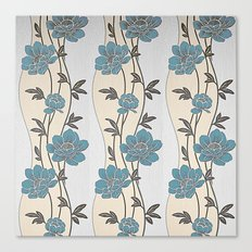 Greenish Blue Flower Garland Canvas Print