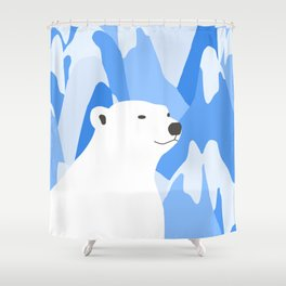 Polar Bear In The Cold Design Shower Curtain