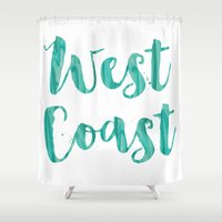 west coast Shower Curtains featuring west coast by Huntleigh