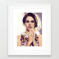 lana Framed Art Prints featuring Lana by MartaDeWinter