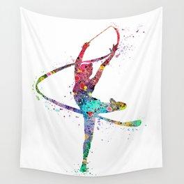 Rhythmic Gymnastics Print Sports Print Watercolor Print Wall Tapestry