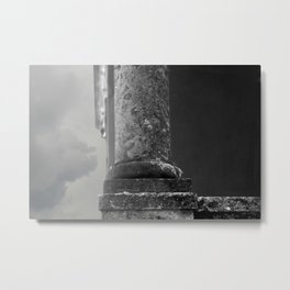 Stone column of a grey sky Metal Print